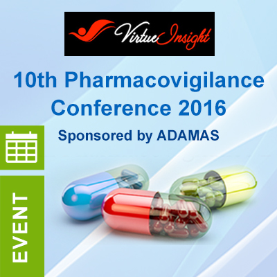 10th Pharmacovigilance Conference 2016 at the Pestana Chelsea Bridge Hotel, London on the 23rd & 24th February 2016.