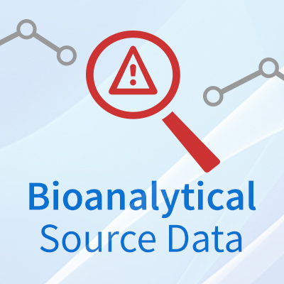 What do you look at when auditing bioanalytical source data?