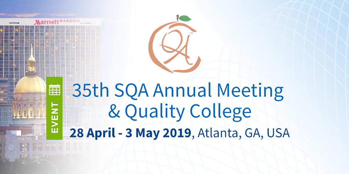 Join us at the SQA 2019 this April/May in Atlanta, Georgia, USA